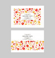 set christmas party or dinner invitations vector image vector image