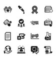 set education icons such as chemistry pipette vector image vector image