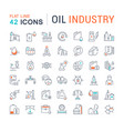 set line icons oil industry vector image vector image