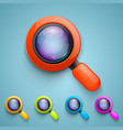 set of magnifying glass vector image vector image