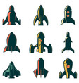 set of the rockets icons design element for logo vector image vector image