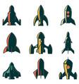set rockets icons design element for logo vector image vector image