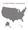 set with map of united states of america vector image