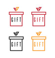 simple flat design gift boxes set vector image vector image