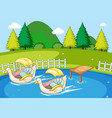 simple nature park landscape vector image