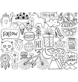 Sketch cute elements vector image