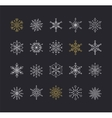 Snowlakes set geometric Christmas pattern vector image