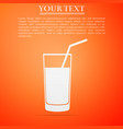 soft drink icon on orange background vector image