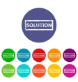 Solution flat icon vector image vector image