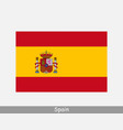 spain spanish national country flag banner icon vector image