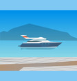 speed boat yacht on seascape vector image vector image