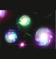spiral galaxy space nebula vector image vector image