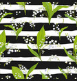 Spring floral seamless pattern with lily flowers