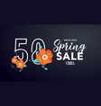spring sale greeting card vector image