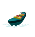 Stack of Cargo Container on Cargo Ship vector image vector image
