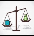 time is more important than money vector image vector image