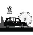 traditional car icon United kingdom design vector image vector image
