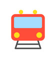 train icon sign front view flat design vector image vector image