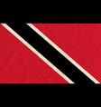 Trinidad and Tobago paper flag vector image