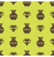 Vases Silhouettes Seamless Pattern vector image vector image