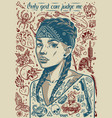 vintage tattoo designs poster vector image vector image