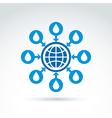 Water system conceptual symbol blue earth arrows vector image vector image