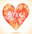 Watercolor heart vector image vector image