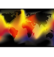 world in flames vector image