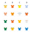 WorldCupKits ABCD vector image vector image