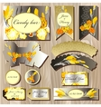 Candy bar wedding design set with iris flowers vector image