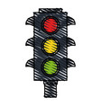 color crayon stripe image traffic light element of vector image