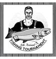 Fishing Logo Fisherman or Fish icon vector image