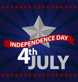 fourth of july happy independence day vector image