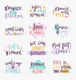 hand drawn lettering phrase isolated on white vector image