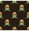 Skull Cross sharp Dagger Seamless Pattern vector image