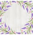summer flowers garland vector image