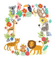 animals of the jungle vector image vector image