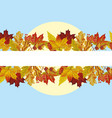 autumn leaves sun blue sky vector image