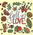 autumn lettering card vector image vector image