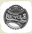 bicycle monochrome wheel and sprocket vector image vector image
