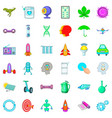 biology icons set cartoon style vector image vector image