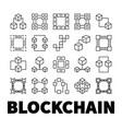 blockchain icons set of 20 block chain vector image vector image