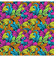 bright colorful seamless pattern with leaves vector image vector image