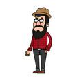 cartoon man profile vector image vector image