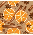 Cinnamon and oranges kitchen background Abstract vector image