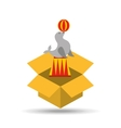 circus animal isolated icon design vector image vector image
