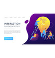 coworking concept landing page vector image