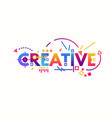 creative gradient letters vector image vector image