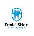 Dental Shield Design vector image vector image
