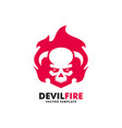 devil fire design template vector image vector image